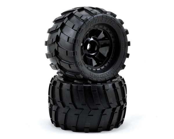"Pro-Line Masher 3.8"" Tire w/Desperado 17mm 1/2"" Offset MT Wheel (2) (Black) (M2)"