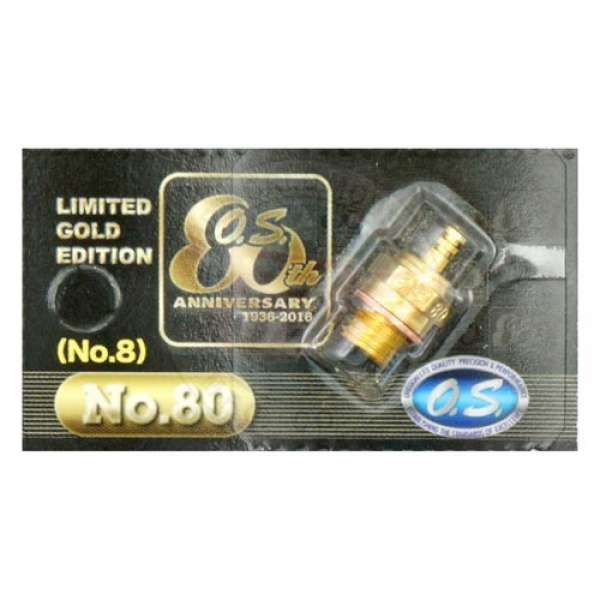OS 8 Limited Edited Gold Plated Glow Plugs