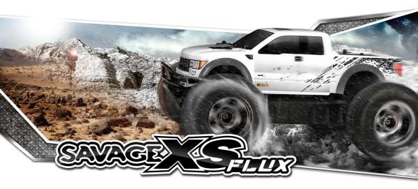 HPI Racing SAVAGE XS FLUX RTR WITH FORD RAPTOR BODY