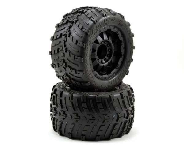 "Pro-Line Shockwave 3.8"" Tire w/F-11 17mm 1/2"" Offset MT Wheel (2) (Black) (M2)"